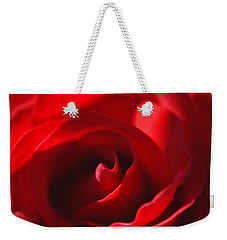 Weekender Tote Bag featuring the photograph Red Rose by Tikvah's Hope