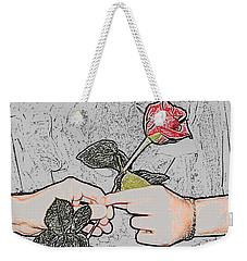 Red Rose Sketch By Jan Marvin Studios Weekender Tote Bag