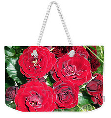 Weekender Tote Bag featuring the photograph Red Roses by Vesna Martinjak