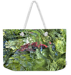 Weekender Tote Bag featuring the photograph Red Salmon In Steep Creek by Cathy Mahnke