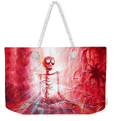 Red Skeleton Meditation Weekender Tote Bag
