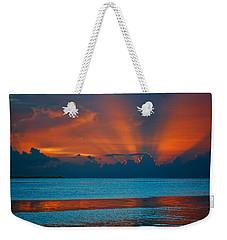 Tropical Florida Keys Red Sky At Night Weekender Tote Bag