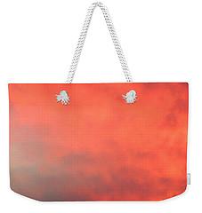 Red Sky At Night Weekender Tote Bag