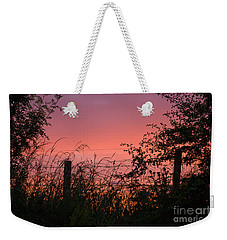 Red Sky At Night Weekender Tote Bag by Liz  Alderdice