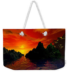 Red Sky Weekender Tote Bag by Kim Prowse