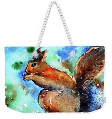 Red Squirrel  Weekender Tote Bag by Trudi Doyle