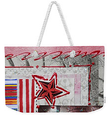 Red Star Weekender Tote Bag