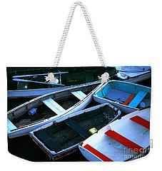 Red Stripe Weekender Tote Bag
