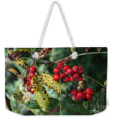 Red Summer Berries - Whistler Weekender Tote Bag