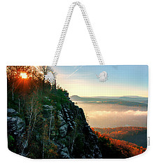 Red Sun Rays On The Lilienstein Weekender Tote Bag