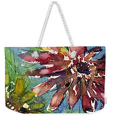 Red Sunflower Weekender Tote Bag by Judith Levins