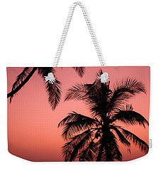 Red Sunset In The Tropics Weekender Tote Bag