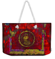 Red Weekender Tote Bag by Susan Leggett