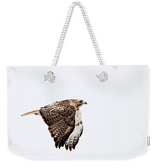 Red Tail In Flight Weekender Tote Bag