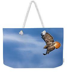 Red Tailed Hawk Soaring Weekender Tote Bag by Bill Wakeley