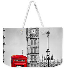 Red Telephone Booth And Big Ben In London Weekender Tote Bag