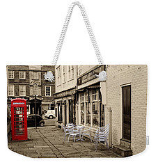 Red Telephone Box Weekender Tote Bag
