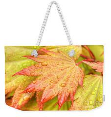 Red Tip Leaf Weekender Tote Bag
