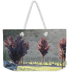 Weekender Tote Bag featuring the photograph Red Tree's by Shawn Marlow