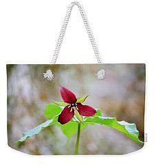Red Trillium Weekender Tote Bag by David Porteus