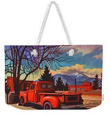 Red Truck Weekender Tote Bag by Art James West