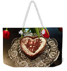 Red Tulip And Chocolate Heart Dessert Weekender Tote Bag