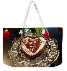 Red Tulip And Chocolate Heart Dessert Weekender Tote Bag by Susan Garren