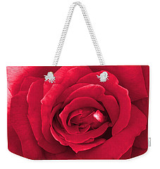 Red Velvet Rose Weekender Tote Bag