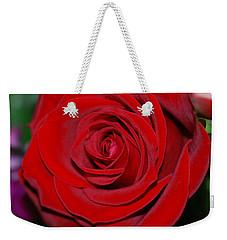 Red Velvet Rose Weekender Tote Bag by Connie Fox