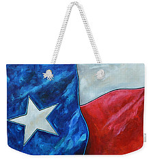 Red White And Texas Weekender Tote Bag by Patti Schermerhorn