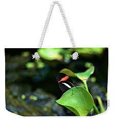 Red White Black Butterfly Weekender Tote Bag