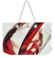 Red Wine  Into Wineglass Splash Weekender Tote Bag