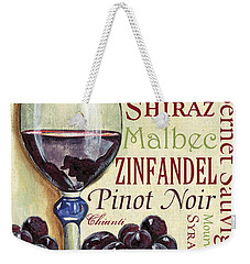 Red Wine Text Weekender Tote Bag