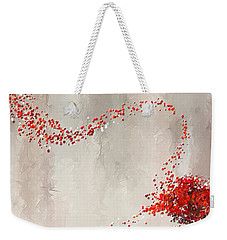 Red Winter Weekender Tote Bag