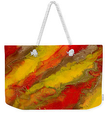 Red Yellow Gold Abstract Weekender Tote Bag