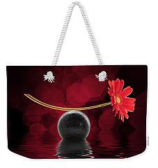 Red Zen Gerbera Weekender Tote Bag