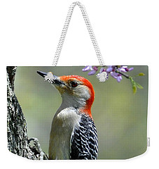 Redbud With Woodpecker Weekender Tote Bag
