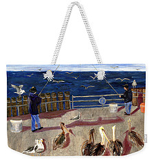 Redondo Beach Pelicans Weekender Tote Bag by Jamie Frier