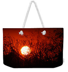 Weekender Tote Bag featuring the photograph Redorange Sunset by Matt Harang