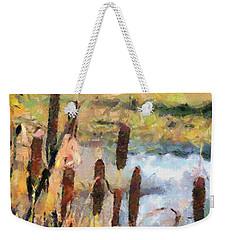Reedmace Weekender Tote Bag by Dragica  Micki Fortuna