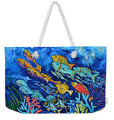 Weekender Tote Bag featuring the painting Reef Fish by Patti Schermerhorn