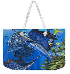 Reef Frenzy Off00141 Weekender Tote Bag by Carey Chen