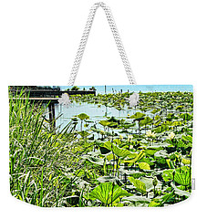 Reelfoot Lake Lilly Pads Weekender Tote Bag
