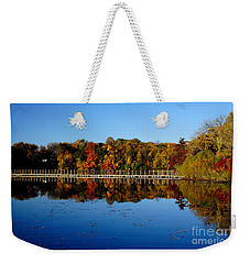 Refection Fall In Prior Lake Mn Weekender Tote Bag