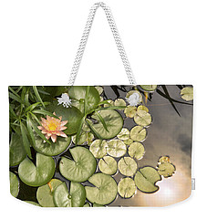 Reflected Light Upon Flowering Water Lilies Weekender Tote Bag
