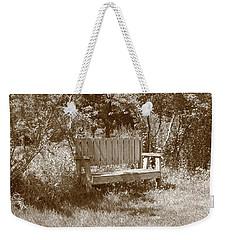 Reflecting Bench Weekender Tote Bag