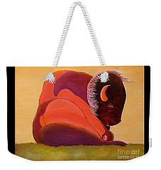 Reflecting Buffalo Weekender Tote Bag