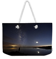Reflecting On The Milky Way Weekender Tote Bag