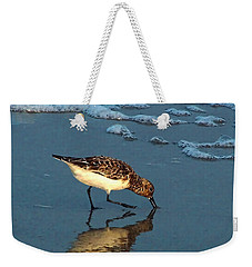 Weekender Tote Bag featuring the photograph Reflection At Sunset by Sandi OReilly