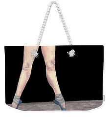 Weekender Tote Bag featuring the painting Reflection En Pointe by Dee Dee  Whittle